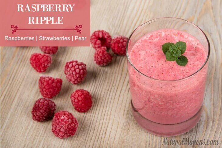 Raspberry Ripple Juice - Raspberries, strawberries, pear. YUM!