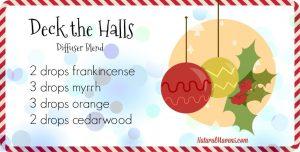 Deck The Halls, a Christmas diffuser blend - NaturalMavens.com