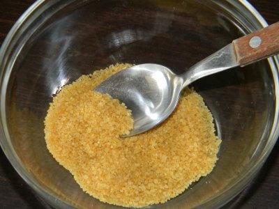Sugar Scrub with Coconut Oil Step 1