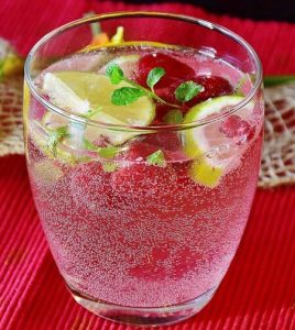Raspberry Herb Water