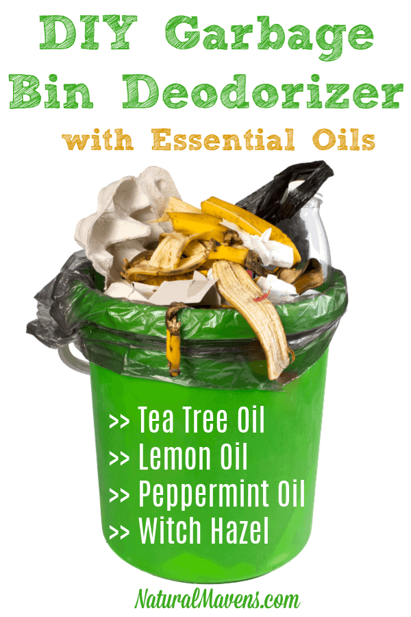 DIY Garbage Bin Deodorizer with essential oils