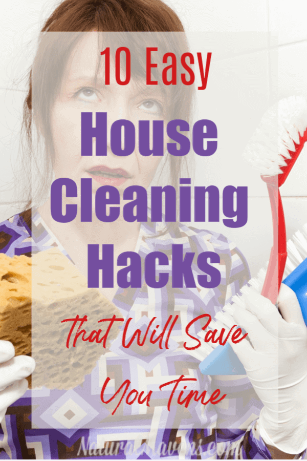 10 easy home cleaning hacks that even lazy cleaners will love. They cut down cleaning time and don't rely on any chemical cleaners. Clean as you go. #homecleaninghacks #homecleaningtips #naturalcleaning