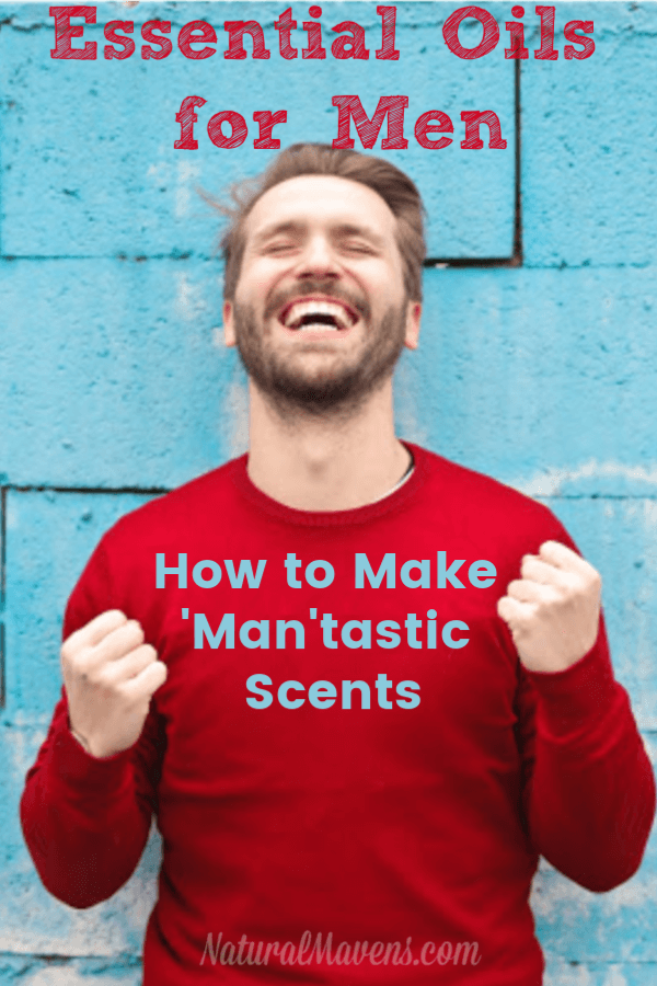 If you want to make your man smell nice, here's a list of essential oils for men. There's also a great guide on how to use them to make blends, perfumes and more. He'll love you for it. #essentialoils
